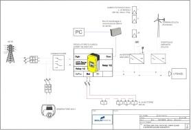 Hybrid system single wire diagram (generic)